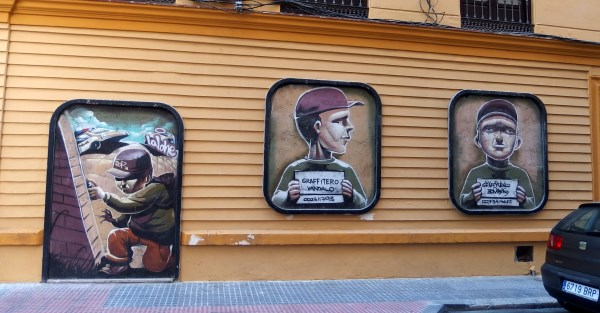 Soho graffiti street art in Malaga