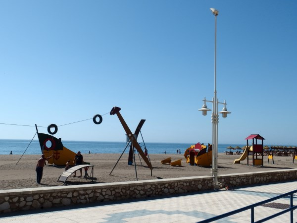 childrens playpark in Malaga