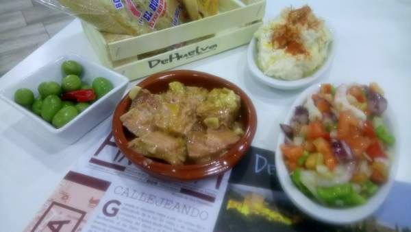 on the menu at De Huelva Malaga