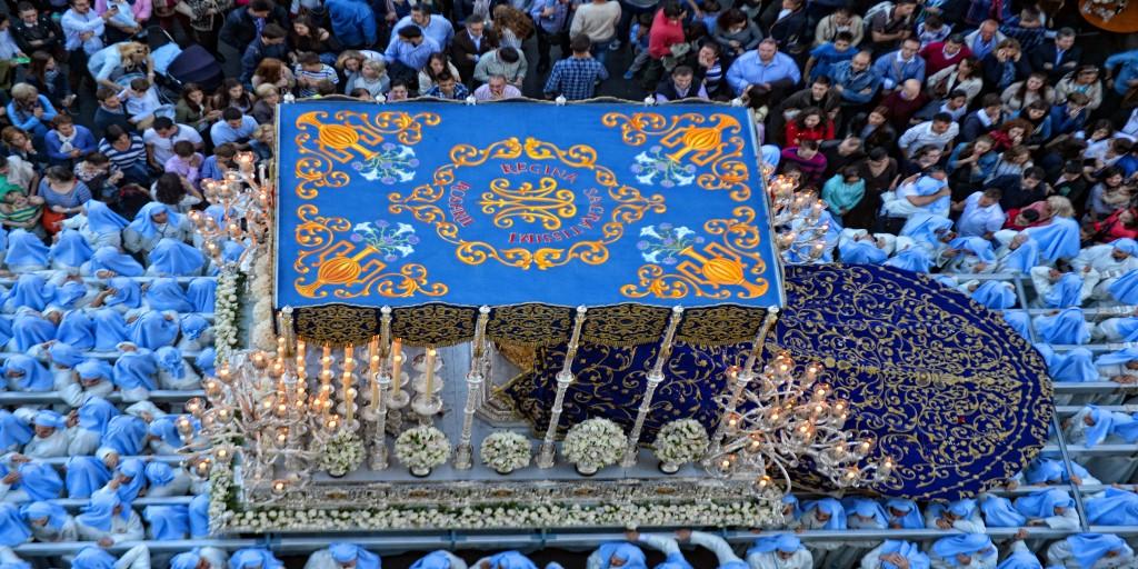 Holy Week procession in Malaga